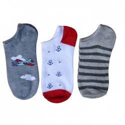 socquette enfant, chaussette invisible garçon, socquette avec motifs, socquette garçon avec motifs.
